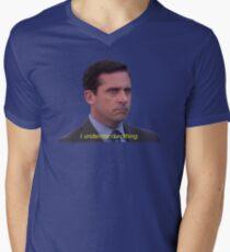 I Understand Nothing - Michael Scott Men's V-Neck T-Shirt