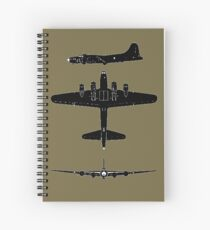 Boeing B17 F Flying Fortress T-Shirts and more.... Spiral Notebook