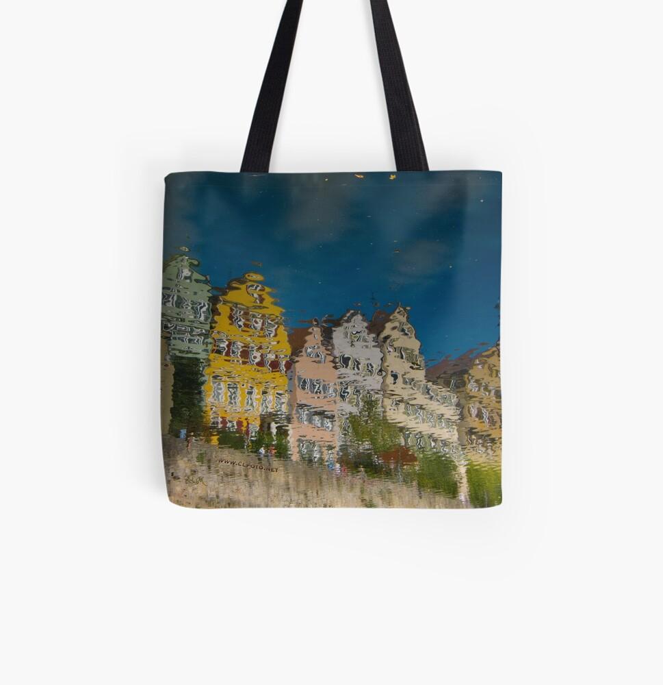 Impressions of the Neckar  All Over Print Tote Bag