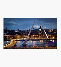 The Peace Bridge - Derry City Photographic Print