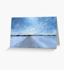 Snowstorm: Fading Winter Light Greeting Card