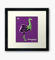 Ee - Emuplant // Half Emu, Half Eggplant Framed Print