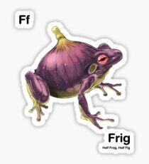 Ff - Frig // Half Frog, Half Fig Sticker