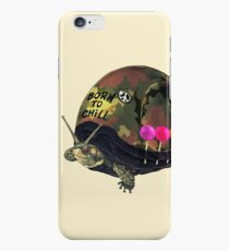 """Born to Chill"" Full Metal Snail Turtle iPhone 6 Case"