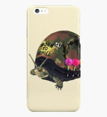 """Born to Chill"" Full Metal Snail Turtle iPhone 6s Plus Case"