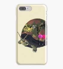 """""""Born to Chill"""" Full Metal Snail Turtle iPhone 7 Plus Case"""