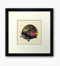 """""""Born to Chill"""" Full Metal Snail Turtle Framed Print"""
