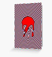 DAVID BOWIE - LIGHTNING BOLT Greeting Card