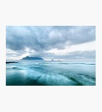 Stormy Morning Dawn at Lagoon Beach, Cape Town Photographic Print