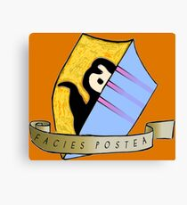 Laziness coat of arms Canvas Print