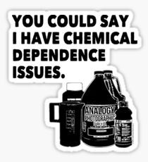 Chemical Dependence Issues - Black Sticker