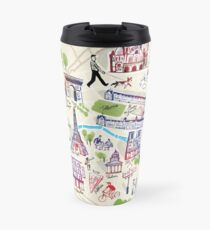 Paris illustrated Map Travel Mug