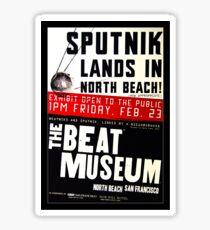 Sputnik Beat Poster Sticker