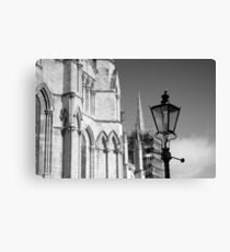 Lamp Post Outside the Minster Canvas Print