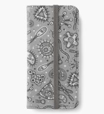 Microbes - Grey / Gray iPhone Wallet/Case/Skin
