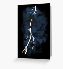 The Dark Raiden Rising Greeting Card