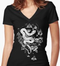 THE END OF THE SUMMER  Women's Fitted V-Neck T-Shirt