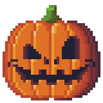Pixel art pumpkin by agateau