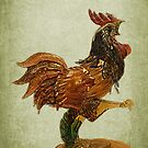 Fighting Coq - Murano Glass by Gilberte