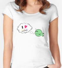 I heart neurodiversity narwhal Women's Fitted Scoop T-Shirt