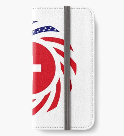 Swiss American Multinational Patriot Flag Series iPhone Wallet