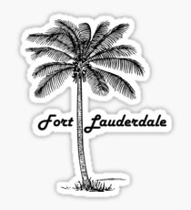Black and White Fort Lauderdale & Palm design Sticker