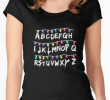 Strange Lights Shirt: Horror Christmas Things T-Shirt Women's Fitted Scoop T-Shirt