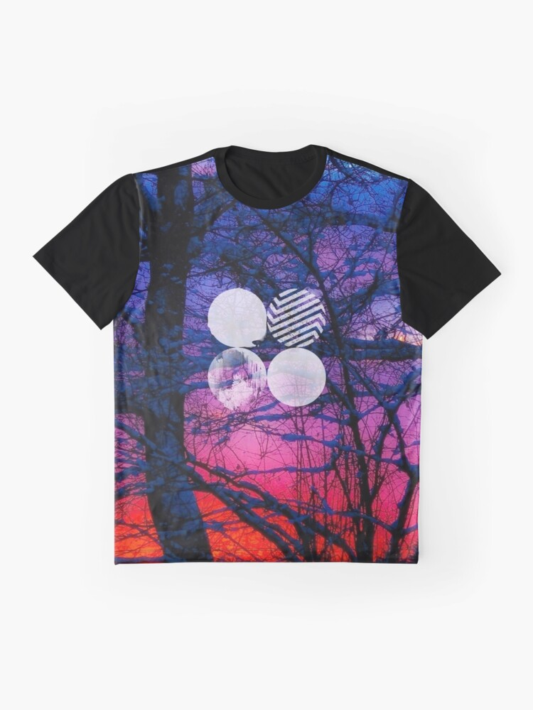 Alternate view of BTS- Wings Trees Graphic T-Shirt