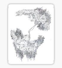 fontaine2 (digital landscapes) Sticker