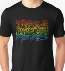 LGBT words cloud Unisex T-Shirt