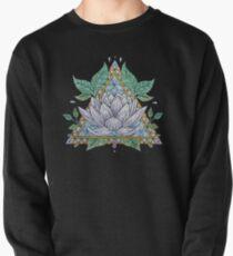 Sudadera sin capucha Vidriera, lotus, ilustración