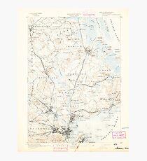 Massachusetts  USGS Historical Topo Map MA Salem 352999 1893 62500 Photographic Print