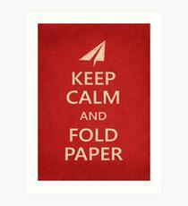 Keep Calm Paper Airplane 21a Art Print