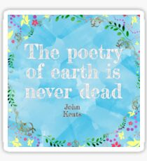 Poetry of earth Sticker