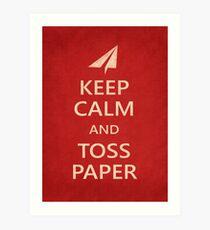 Keep Calm Paper Airplane 21b Art Print