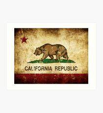 Lámina artística Bandera de la República de California Rústica