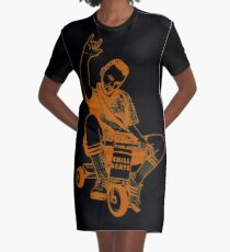 Man on a Tricycle Graphic T-Shirt Dress