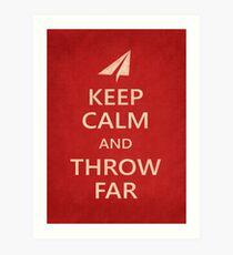 Keep Calm Paper Airplane 21c Art Print