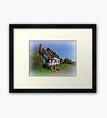Chocolate Box Cottage (Vignetting Version) Framed Print