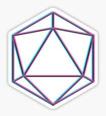 TRIPPY ICOSAHEDRON Sticker