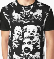 Horror Clown Icons Graphic T-Shirt