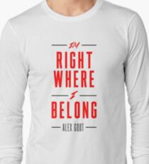 Alex Goot- Right Where I Belong Long Sleeve T-Shirt