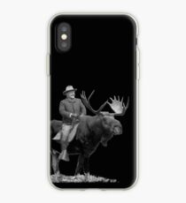 Teddy Roosevelt Riding A Bull Moose iPhone Case
