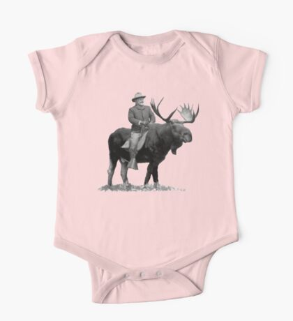 Teddy Roosevelt Riding A Bull Moose Kids Clothes