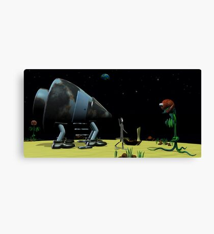 Origami Man in Space Canvas Print