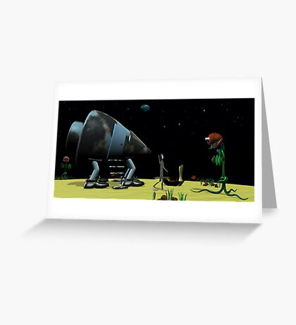 Origami Man in Space Greeting Card