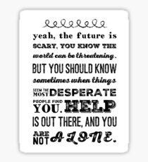 One Tree Hill - Haley Quote season 8 Sticker