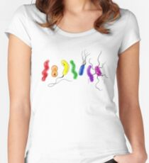 Pride Rainbow Bacteria Women's Fitted Scoop T-Shirt