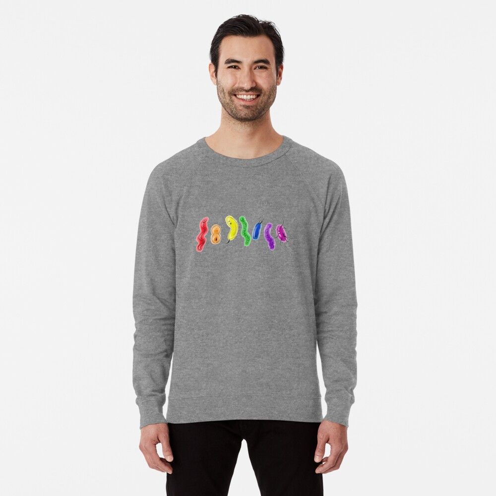 Pride Rainbow Bacteria Lightweight Sweatshirt Front