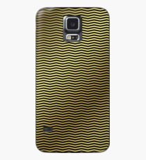 Black And Gold Chevron Wavy Stripe ZigZag Pattern Case/Skin for Samsung Galaxy
